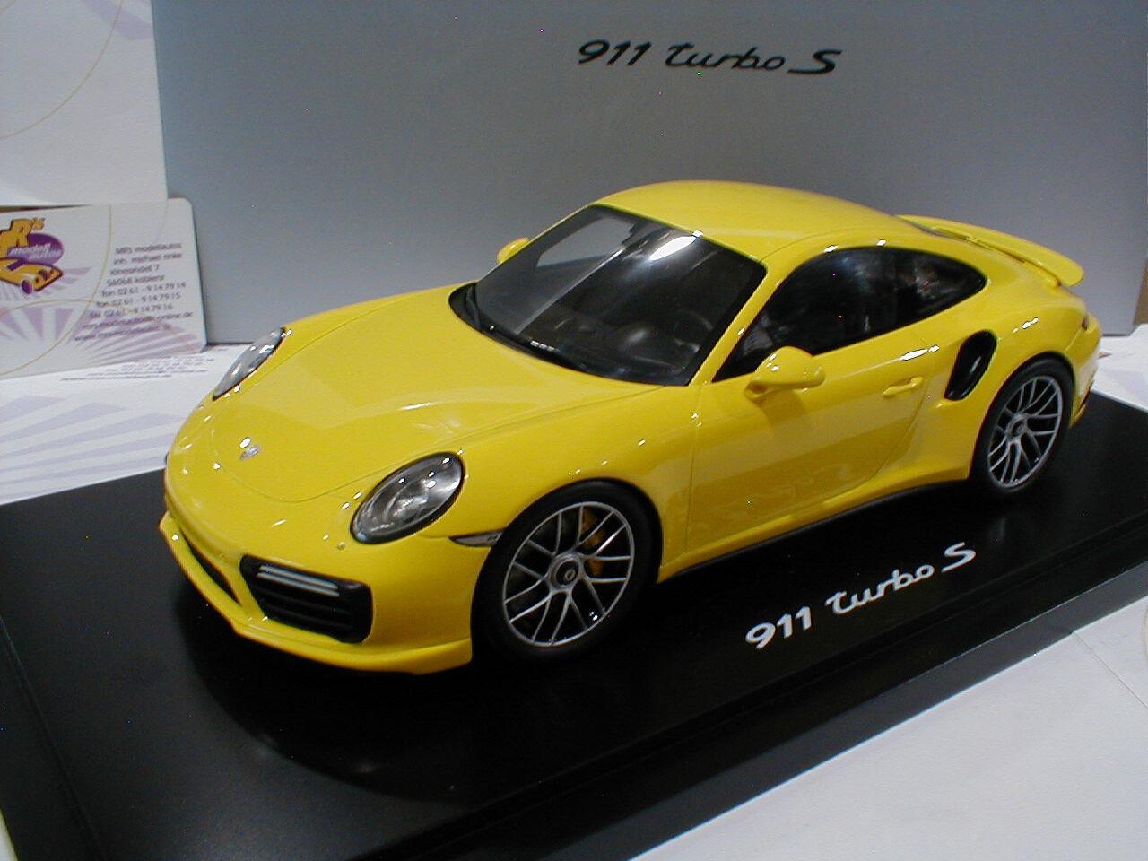 """Spark WAP0211360G   Porsche 911 (991) II Turbo S racing in """" racing gelb """" 1 18"""