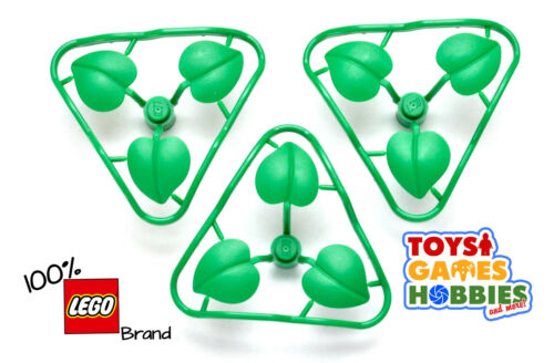 *NEW* LEGO Set of 3 Broad Plant Leaves Accessory Garden Farm Forest City Castle