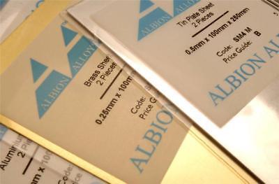 "Ref: BS9 Pack 1 Albion Alloys Brass Strip 1/"" x 0.032/"" x 305 mm Long"