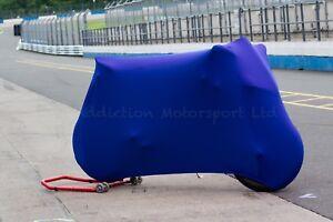 Suzuki Gsxr750 Super Soft Perfect Stretch Indoor Bike Motorcycle Cover Blue