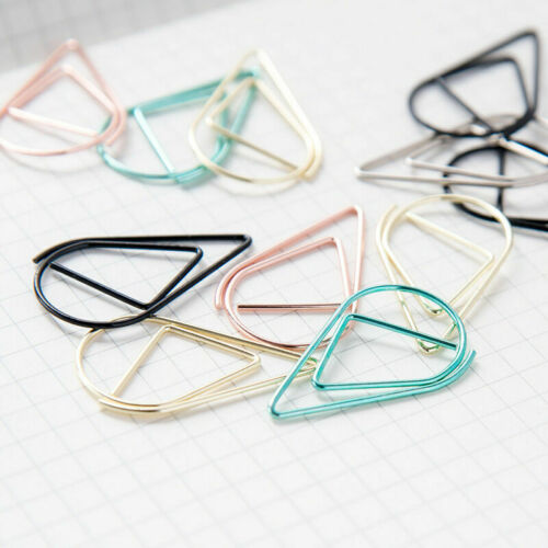 50x Colorful Metal clips silvery Bookmark Office Shool Gift Stationary T6R4 U8V8