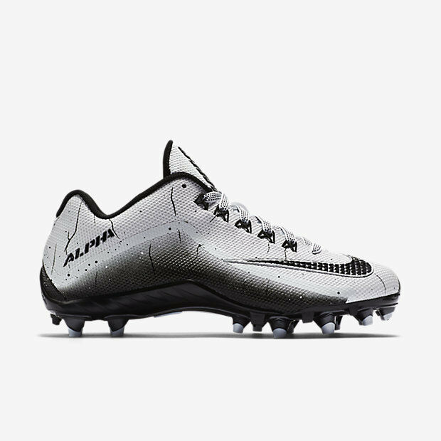 New Football Mens Nike Alpha Pro 2 TD Football New Cleats Size 9.5 White/Black/Silver 42613e