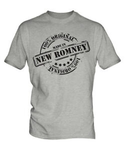 MADE IN NEW ROMNEY MENS T-SHIRT GIFT CHRISTMAS BIRTHDAY 18TH 30TH 40TH 50TH 60TH
