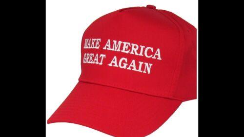 Make America Great Again Donald Trump Adjustable Hat Cap Red Republican