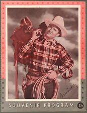 1947 Gene Autry and Champion Show Program Ruff Davis Johnny Bond Cass County Boy