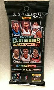 2019-20-Panini-Contenders-Basketball-Cards-22-card-Value-Pack-Factory-Sealed