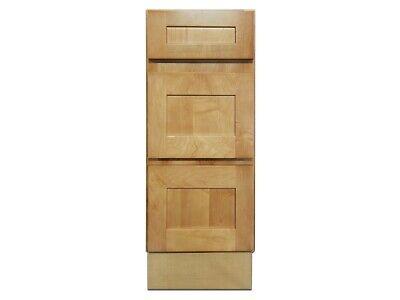 Kingway 12 Inch Vanity Cabinet With Drawers Elegant Maple Ebay