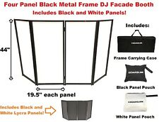 CedarsLink DJ Event Facade White/Black Scrim Metal Frame Booth +Travel Bag Case