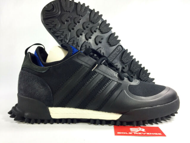 new products 4c861 74b30 NEW Adidas x C.P. Company Marathon BD7958 Black & Collegiate Royal Blue  Shoes n1
