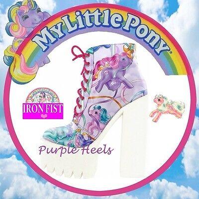 Iron Fist My Little Pony Merry Go Round Platform Booties UK4-7 EU37-40