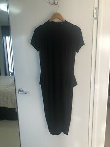 Marc-Cain-Fitted-Black-Bodycon-Dress-With-Lining-Sz-M-RRP-675