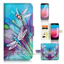 ( For Samsung J7 Pro ) Wallet Case Cover P21094 Dragonfly