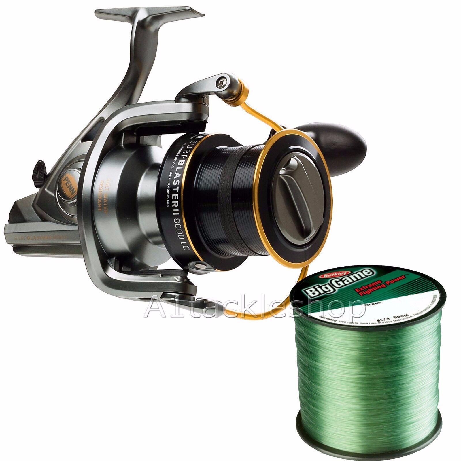 Penn Surfblaster II 8000 Fishing Reel & Free Berkley Big Game Line