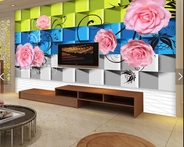 3D Blossom 4065 Wallpaper Murals Wall Print Wallpaper Mural AJ WALL UK Carly