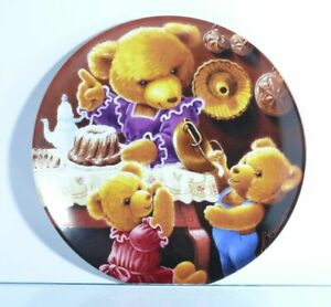 Collection-Plate-Bareuther-034-Kuchenschmaus-At-Mother-034-Certificate-Teddy-Boxed