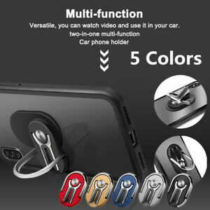 Universal-Finger-Ring-Cell-Phone-Holder-Stand-Car-Metal-Plate-Rotating-Grip-360