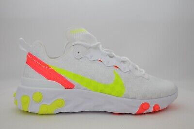 Nike React Element 55 White Volt Crimson CJ0782-100 Running Shoes Men/'s NEW