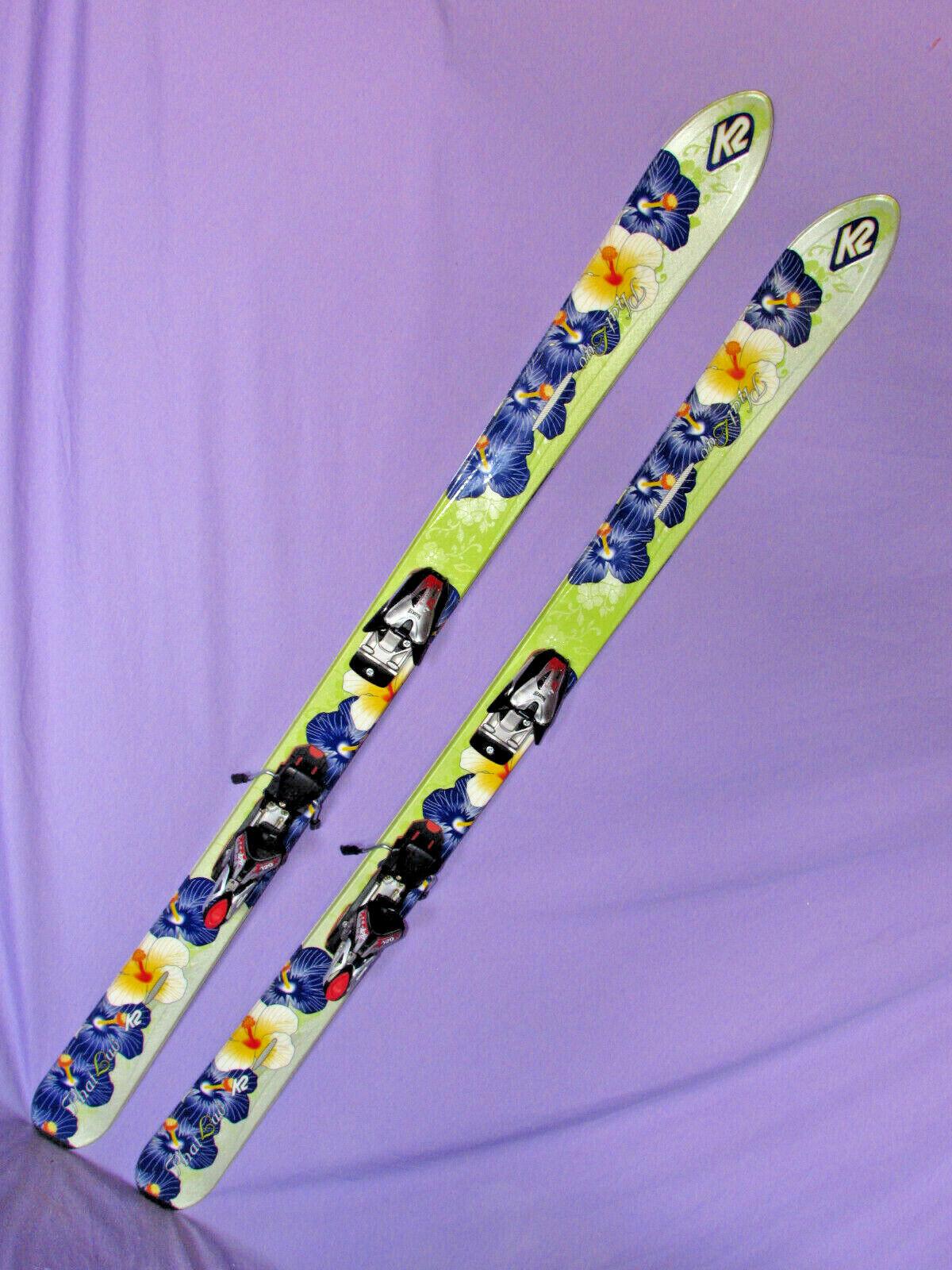 K2 Phat Luv T Nine  womens POWDER skis 160cm with Marker 12.0 FREE ski bindings   buy cheap new