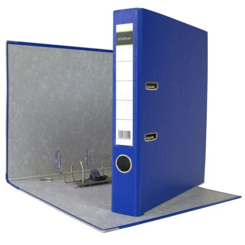 7 x Akten-Ordner PP A4 50 mm Blau Kunststoff Archiv Büroordner Ringordner