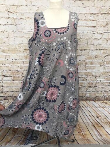 Sommer Leinen Kleid Lagenlook Übergröße Tunika Gr 46 48 50 Neu braun Damenmode