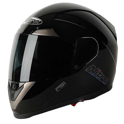 GRADE A Nitro N-PSI Pump Full Face Motorcycle Motorbike Helmet ACU GOLD - L