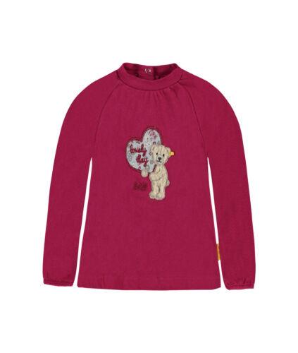 STEIFF Newborn Lovely Day Shirt Teddybär sangria red Gr.56-86 NEU