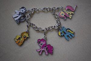 Charm Bracelet Disney Princess Kitsch Silver Plated