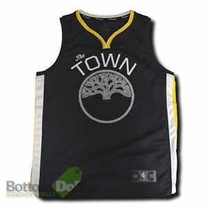 sneakers for cheap 86ee6 57827 Details about Fanatics Golden State Warriors The Town Fast Break Youth  Replica Jersey Charcoal