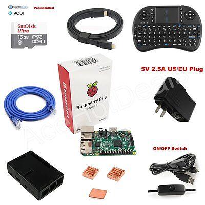 Raspberry Pi 3 Model B 1GB RAM Quad Core 1.2GHz CPU Media Center Starter Kit