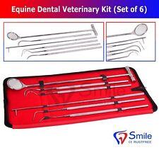 Smile England Equine Dental Mirror Scaler Probe Explorer Veterinary Kit Set Ss