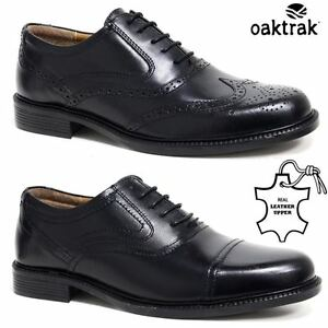 Mens-Leather-Brogues-Smart-Formal-Office-Casual-Lace-Up-Oxford-Brogue-Shoes-Size