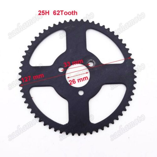 25H 62T 26mm Rear Chain Sprocket Chinese 47cc 49cc Engine Pocket Bike Mini Moto