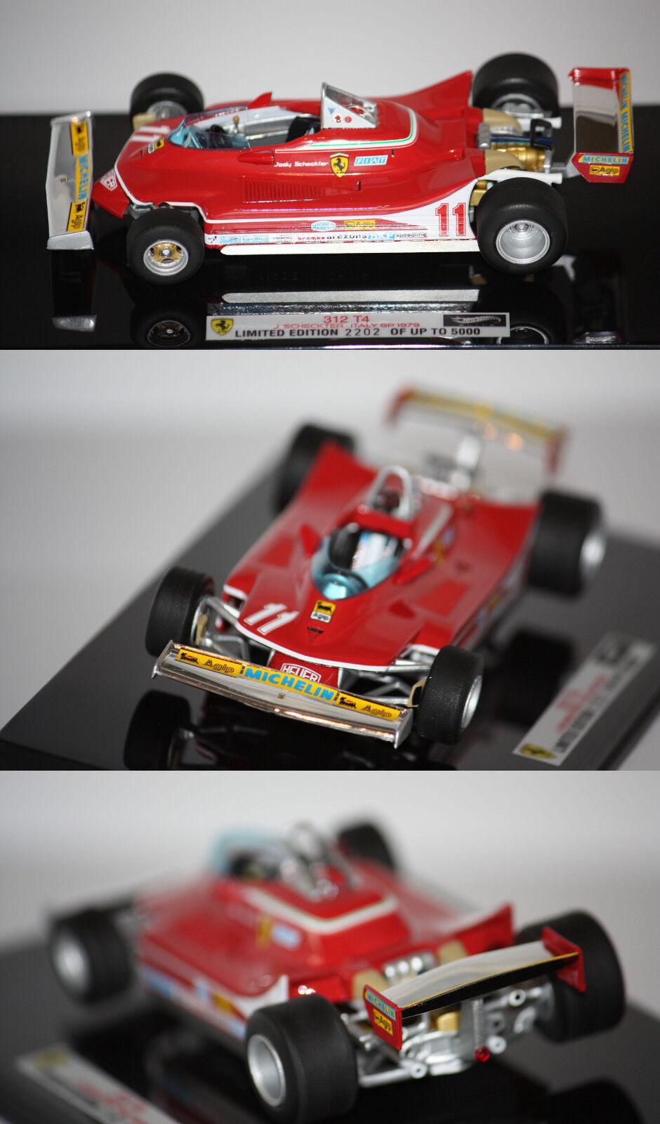 moda Hotwheels Elite Elite Elite F1 Ferrari 312 T4 J. Checkter World Champ. 1979 1 43  V8372  promociones de descuento
