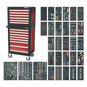 Sealey Topchest / Rollcab Combination 14 Drawer & 1233pc Tool Kit - APTTC02