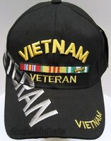 Vietnam Veteran Cap/hat W/shadow Black Military Style2 Free Shipping