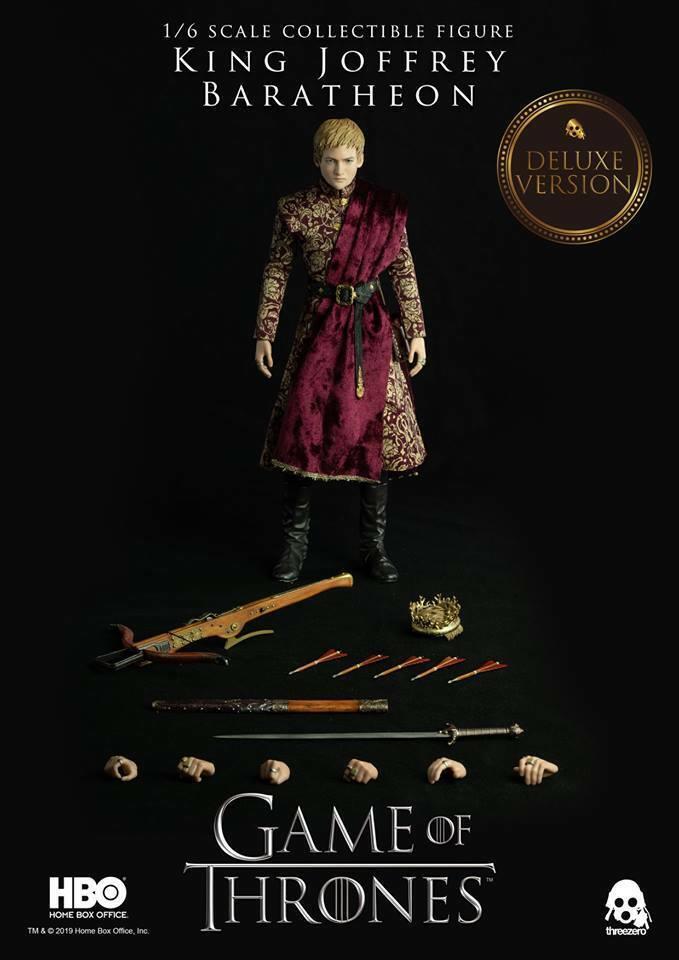 Threezero HBO GOT The The The gioco of Thrones re JOFFREY BARATHEON Deluxe 1 6 cifra 33d6ef