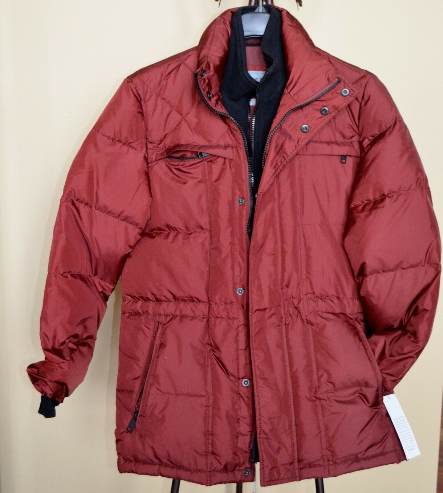 MARC NEW YORK ANDREW MARC Down Puffer Coat Burgundy Sz.M NWT WOW  330