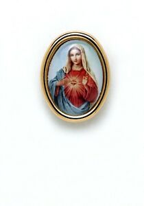 ???Immaculate Heart of Mary Photo Lapel Pin