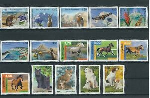 """(lot 102) Timbres France N** """"nature"""" 1986-1999"""