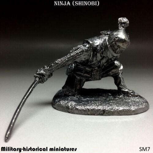 Ninja, Tin toy soldier 54 mm, figurine, metal sculpture