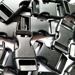 15mm-Paracord-curvadas-hebillas-hebilla-pulsera-clic-cierre-negro-Buckles