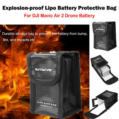 Sunnylife Li-Po Safe Case Battery Explosion-Proof Storage Bag For DJI Mavic Air2
