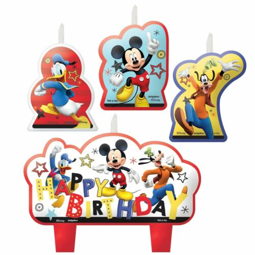 Disney Mickey Mouse Candle Set ~ Birthday Party Decoration Supplies Cake Topper