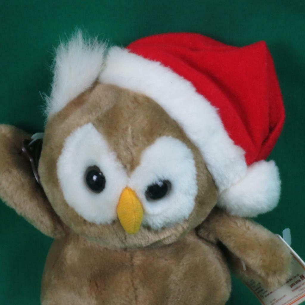 NEW VINTAGE 1985 GANZ HERITAGE COLLECTION CHRISTMAS OWL PLUSH STUFFED ANIMAL TOY