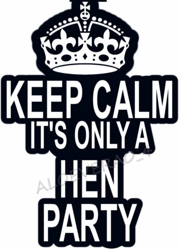 IRON ON TRANSFER CREATE T SHIRTS CHEAPLY ✿✿ ✿✿KEEP CALM IT/'S ONLY A HEN PARTY!
