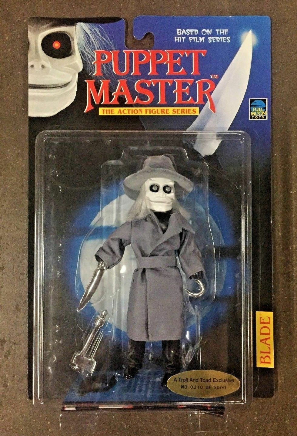 Full Moon Juguetes 1998 Puppet Master Sapo y Troll exclusivo Hoja Figura De Acción