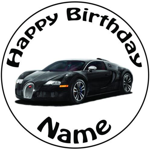 Personalisiert Geburtstag Bugatti Rund 20.3cm Easy Vorgeschnitten Kuchen Glasur