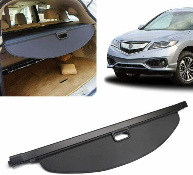 Rear Trunk Cover Retractable Black Cargo Cover Fits 2013