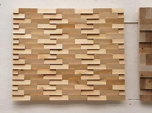Dekorplatte-Wandpaneele-Wandverblender-Birke-3D-Optik-Holzfliesen-Mosaik