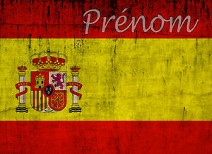 Drapeau espagnol set de table ou sous main de bureau avec votre pr nom ebay for Fenetre en espagnol